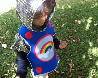 Ready to Ship - Knight's Sparkly Chain Mail Hood - Halloween Costume - Kid Costume