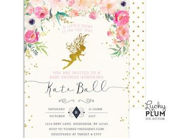 Fairy Baby Shower Invitation / Woodland Baby Shower Invitation / Couples Baby Shower Invitation / Coed Baby Shower Invitation / FY01