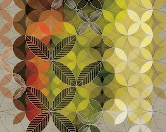 Leaves Geometric Art Print