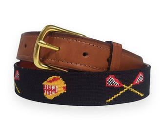 Hand Needlepoint Men's Belts