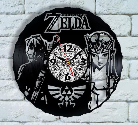 Legend Of Zelda Vinyl Wall Clock Nintendo Gift Ocarina Of Time