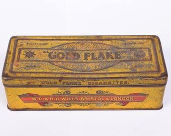 Vintage Gold Flake Honey Dew Tobacco Tin
