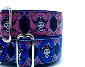 "Houndstown 1.5"" Modskulls Buckle or Martingale Collar Size Small, Medium, or Large"