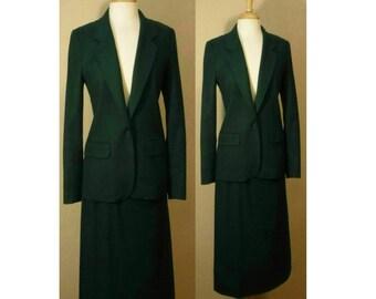 Women's suit, skirt suit, wool coat, women's coat, women's skirt, women's blazer, dress suit, business, professional, prep, suit, Pendleton