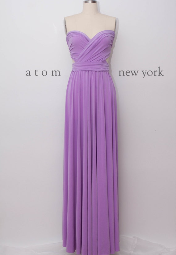 Lavender LONG Floor Length Ball Gown Infinity Dress