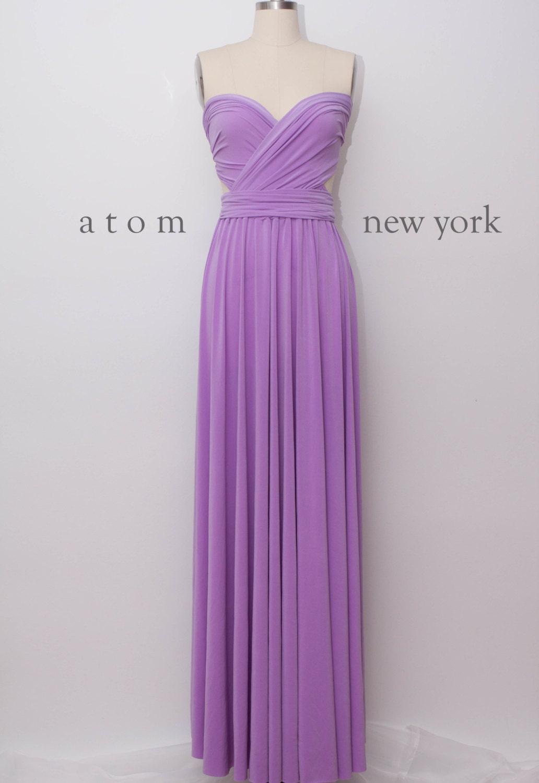 Lavender LONG Floor Length Ball Gown Infinity Dress