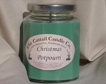 Christmas Potpourri - 100% Soy Candle, 12 fl oz