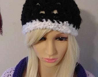 Crochet Lazy Pom-pom hat