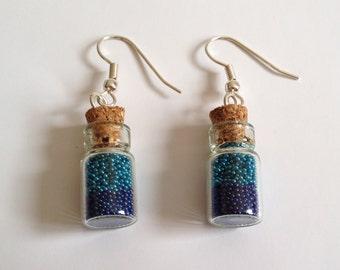 Earrings magicballs in a Bottle