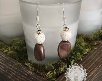 Essential oil diffuser earrings aromatherapy
