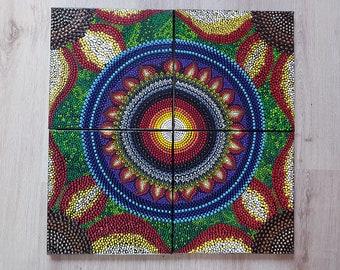 Mandala Sunflower 3D Effects