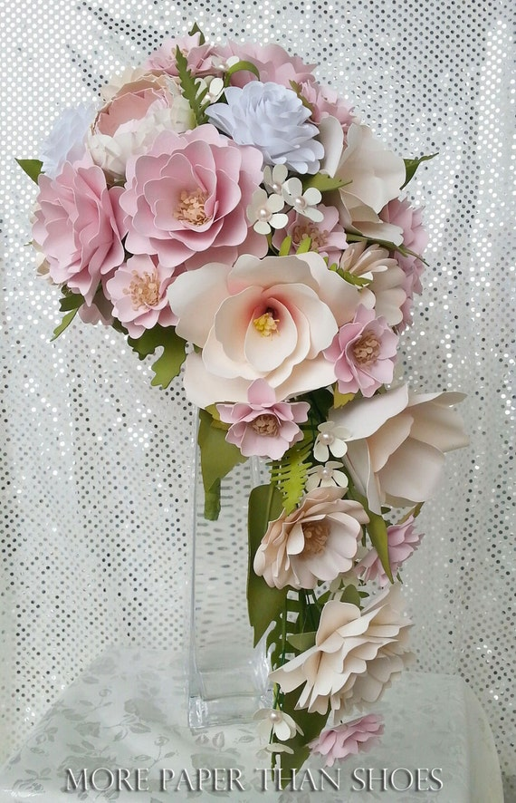 Paper Flower Bouquet Cascading Bouquet Custom Bouquets