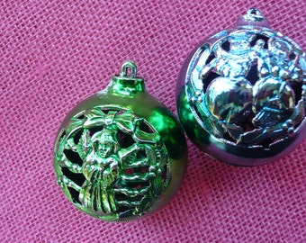 Blue and Green Vintage Ornaments