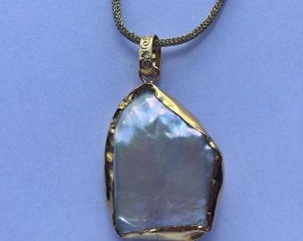 Silk Silver Pearl Necklace