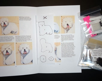 Beading Kit: WESTIE Bead Embroidery Dog Pin Beaded Animal Brooch 15/0 seed beads (For Personal Use Only)