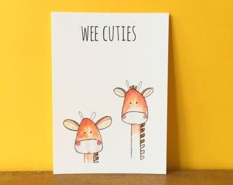 Wee Giraffes A6 card