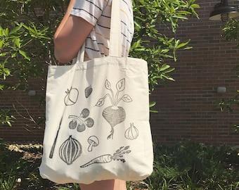 Reusable canvas market & grocery bag