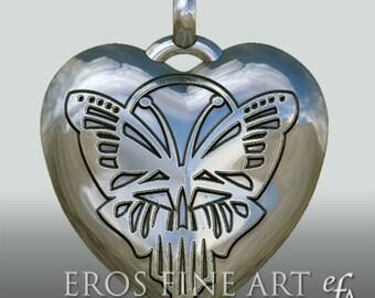 Herzanhänger Butterfly - exklusiver Silberanhänger, Herzanhänger, Schmetterling, Herz-Schmetterling, Herz, Valentine, Geschenk, Liebesbeweis