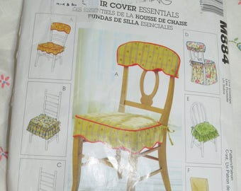 McCalls 884 Chair Cover Essentials Sewing Pattern - UNCUT
