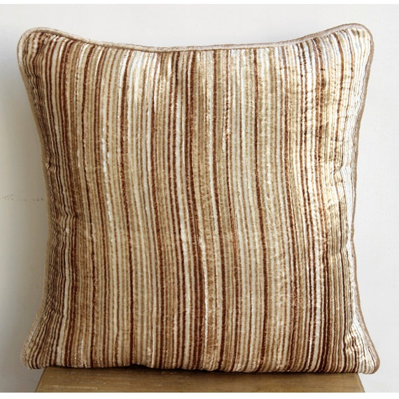 Decorative Pillows For Couch: Designer Beige Throw Pillows Cover For Couch