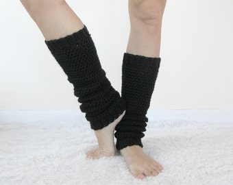 Yoga Leg Warmers Women   80s Leg Warmers   Crochet Leggings   Ballet Legwarmers   Pilates Socks