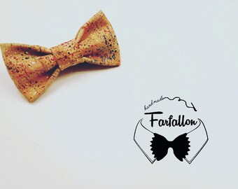 Cork colored bow tie LIMITED EDITION for man