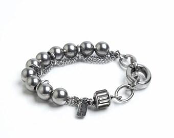 PUR Metal. Stainless Steel and Swarovski Crystal Bracelet