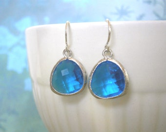Royal Blue Earrings, Silver Earrings, Gift for Wife, Sister Gift, Best Friend Gift, Mother Gift, Gifts for Her, Birthday, Holiday
