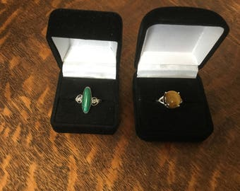 Velveteen Ring Boxes-Set of 5-2 Sizes Available