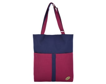 """Leesha PrETty Upcycling Upcycled / Recycled Shoulder Bag """"Jules"""" Marin-Bordo - Made in Germany, Fair, Sustainable, Upcycling, Recycling"""
