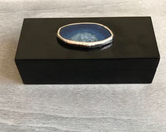 ALTAR Blue Agate Lacquered Box