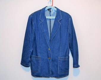 Vintage Denim Blazer .......Must Have