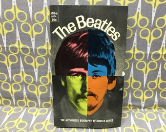 The Beatles Authorized Biography by Hunter Davies paperback book vintage rock