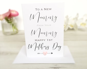 Mothers Day Card, New Mum Mothers Day Card, Mum to New Mum Mothers Day Card, Mum Mothers Day Card, Mums Card, Mum Card on Mothers day, Mum