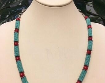 Peyote Stitch Delica Turquoise