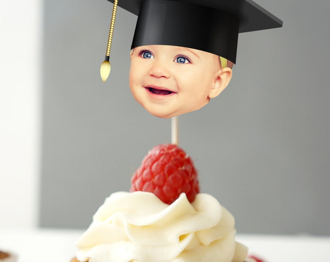 Cupcake topper, cap and gown, Graduation Party Invitation, travel, passport,invite, party, oh the places you will go, prom, class of 2017