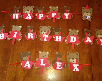 Teddy Bear Picnic Party Banner
