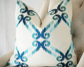 Teal Throw Pillow Cover Teal Pillow 10x20 10x22 10x24 12x20 12x22 12x24 Lumbar Accent Throw Cover Decorative Pillow