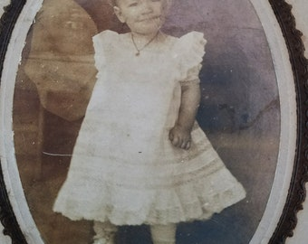 Photo Child with Grin Circa 1890