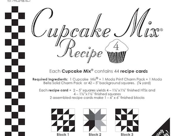 Cupcake Mix Recipe 4 by Miss Rosie's Quilt Co. - 44 recipe cards