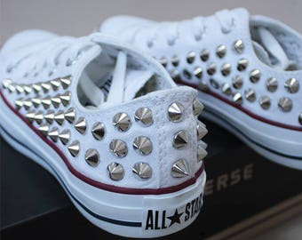 Genuine CONVERSE All-star low-top studed Sneakers Sheos High-quality authentic