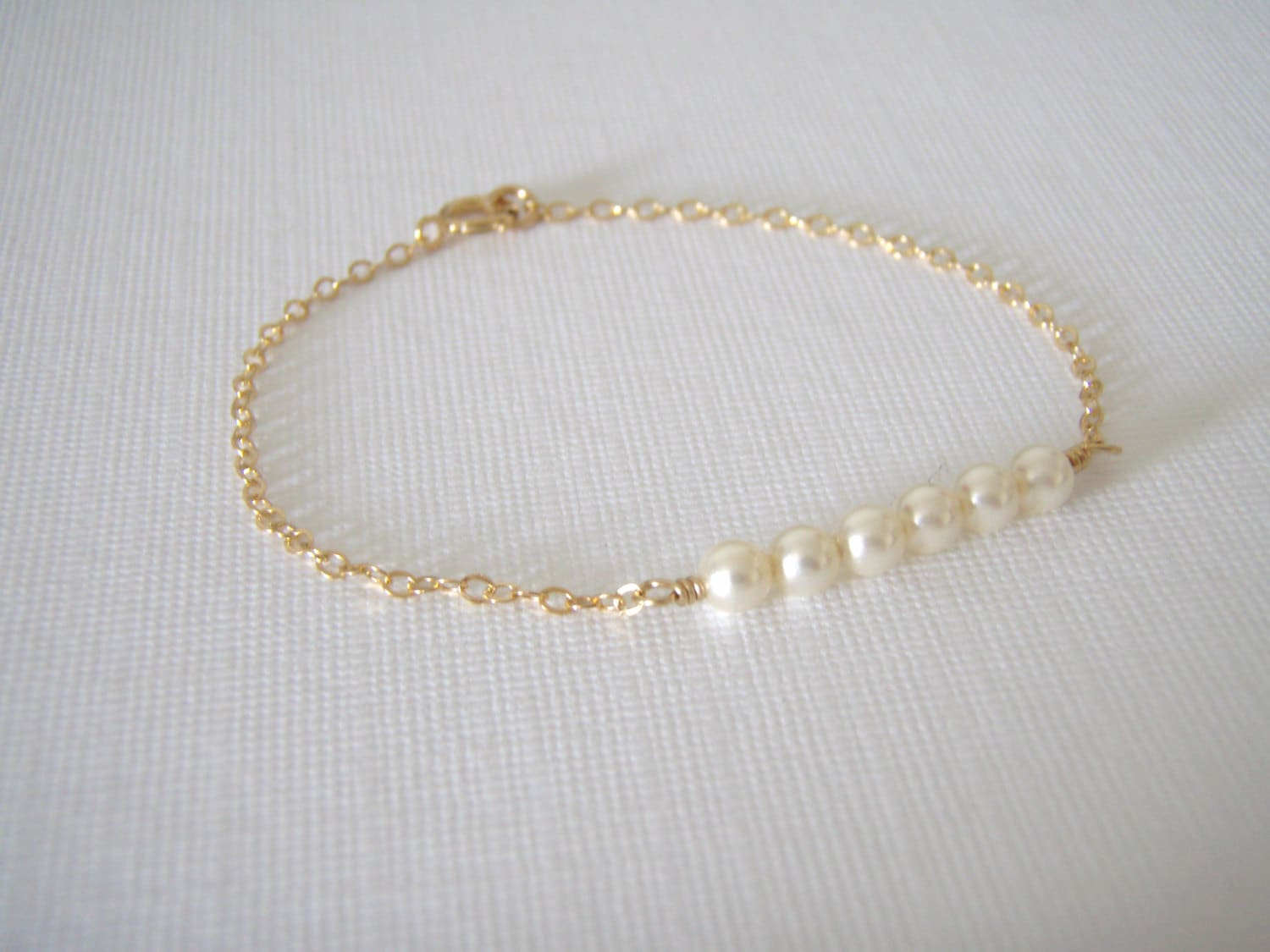 of bracelet initial rose set pearl dainty jewelry bridesmaid media gold personalized
