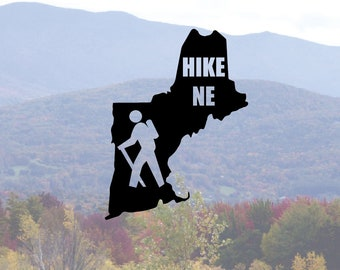 Hike New England vinyl sticker decal laptop car