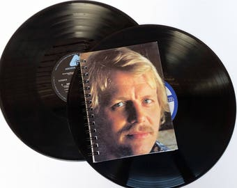 David Soul,  Up-cycled Vinyl Album cover Notebook