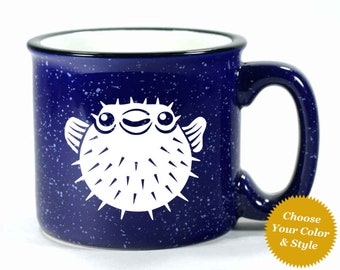 Puffer Fish Mug - Choose Your Cup Color