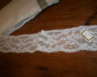 Antique lace by the yard or roll  french  1920 yardage pure cotton