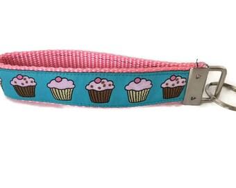 Cupcake Keychain, Key fob, Wristlet