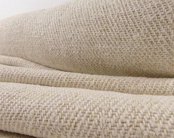 Grain Sack Fabric by the Yard Upholstering fabric Runner Vintage linen roll hemp linen roll wedding decor