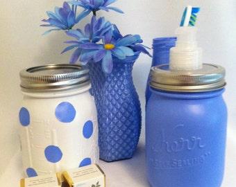HANDMADE Upcycled Glass Bathroom Set/Mother's Day Gift