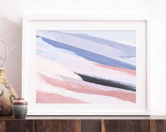 In the Surf Abstract - Art Print